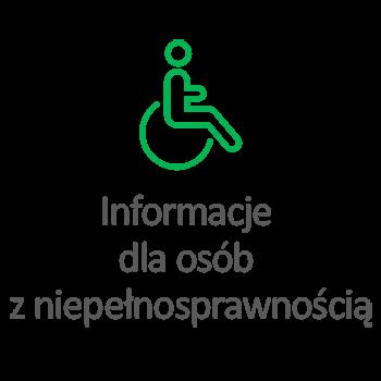 Informacje dla osób z niepełnosprawnością